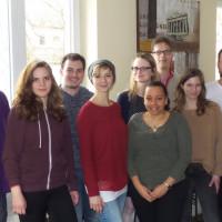 von links nach rechts: Moritz Stiepert, Melina Arnold, Patrick Steiner, Seija Knorr, Arlette Rilling, Denice Himmel, Nico Amend, Mona Arnold und Daniel Fürst